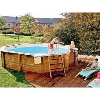 Kit piscine bois santa cruz luxe achat for Piscine enterree 6x4