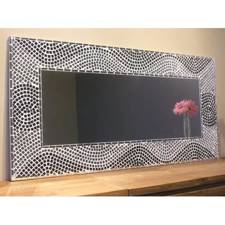 miroir mosaique design 120cm x 60cm salon chambre achat vente miroir salle de bain soldes. Black Bedroom Furniture Sets. Home Design Ideas