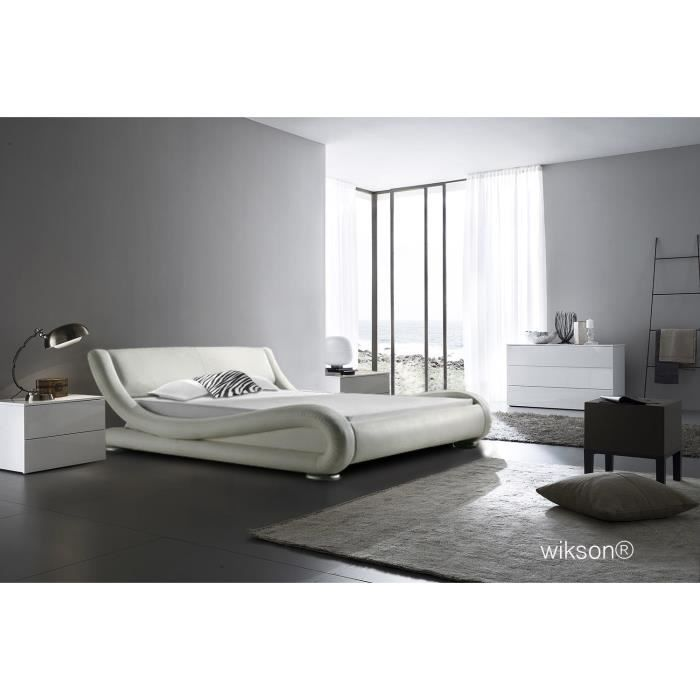 lit designer de luxe achat vente lit complet cdiscount. Black Bedroom Furniture Sets. Home Design Ideas