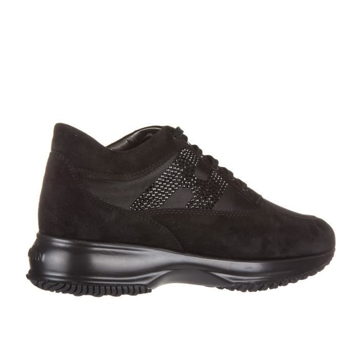 Chaussures baskets sneakers femme en daim interactive h strass Hogan