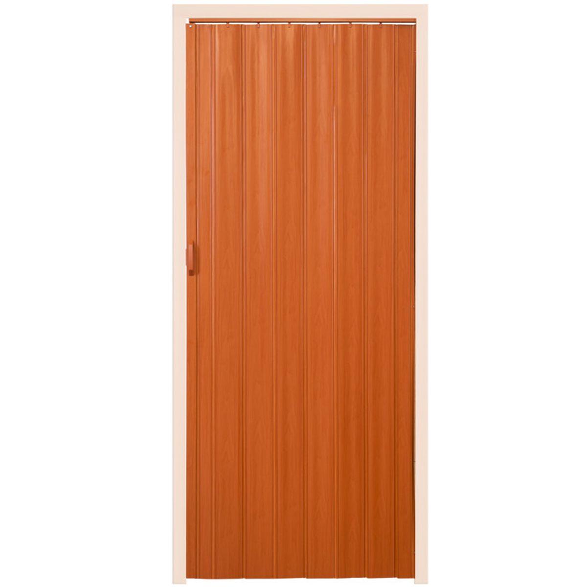 Porte De Séparation Pliante tectake porte coulissante pliante pour intérieur en pvc 80 cm x 203 cm bois  chêne