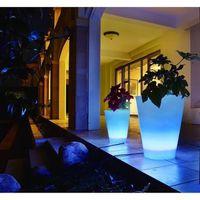 LUMISKY Vase lumineux conique Led télécommandable 38cm - Multicolore