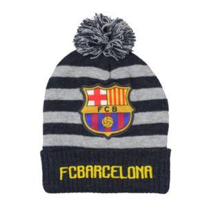 BONNET - CAGOULE Bonnet à pompon FC Barcelone enfant bleu gris Tail