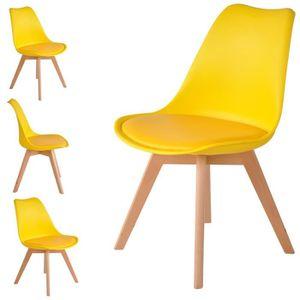 CHAISE Lot de 2 chaises coloris jaune - Skagen Style scan