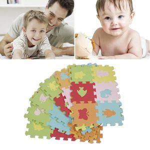 TAPIS PUZZLE 36 Pcs 16*16cm Puzzle animaux tapis de jeu en mous