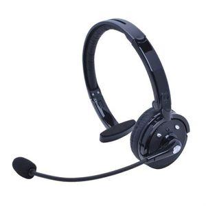CASQUE - ÉCOUTEURS sans fil Bluetooth casque mono multipoint anti-bru