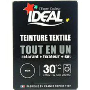 TEINTURE TEXTILE IDEAL Teinture poudre - Noir - 230g