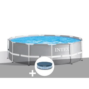 PISCINE Kit piscine tubulaire Intex Prism Frame ronde 3,66