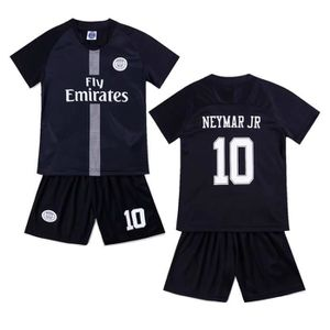 sports shoes d7165 6d97f PSG Jordan #10 Neymar JR Maillot de Foot Football Soccer(maillot +  shorts)Kit Suit 2018 / 2019 Pas Cher pour Enfant Garçon Kids