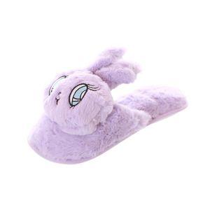 CHAUSSON - PANTOUFLE Chausson ZL17D HS-03-2 Violet doux Oreilles de lap