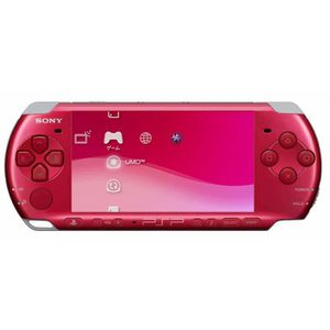 CONSOLE PSP Console Sony PSP 3000 Slim & Lite red