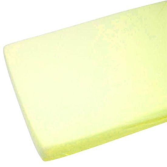 2x Drap housse en Jersey 100/% Coton Lit bébé 70x140cm Crème