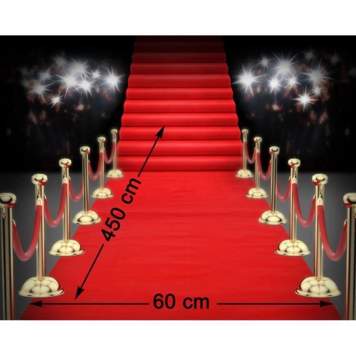 ATOSA Tapis rouge pour décoration cinéma 450x60 cm