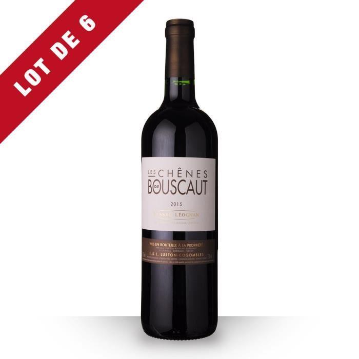 6x Les Chênes de Bouscaut 2015 AOC Pessac-Léognan - 6x75cl - Vin Rouge