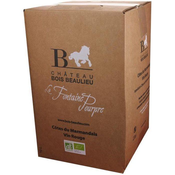 Bag-in-Box 10L Château Bois Beaulieu Rouge AOC Côtes du Marmandais - Vin Rouge