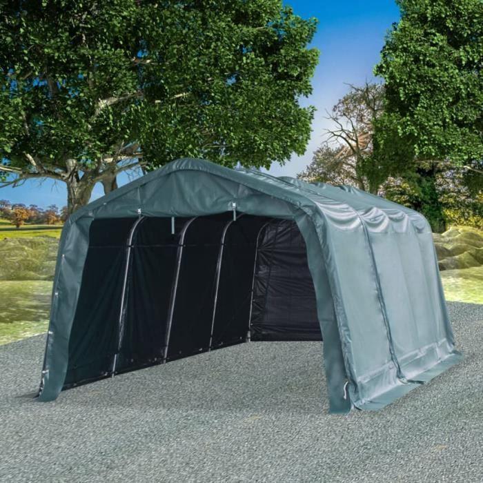 Tonnelle de Jardin -Tente amovible pour bétail Auvent d'Extérieur Tente d'Elevage Abri d'Etable Pâturage - PVC 550 g-m² 3,3 x 6,4 m