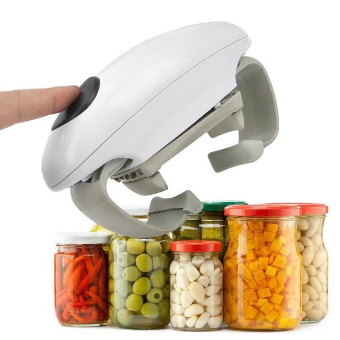 Ouvre-Bocal électrique portatif Ouvre-boîtes sans Fil à ouvre-Porte Automatique à Piles, Outil de Cuisine, Outil de Cuisine