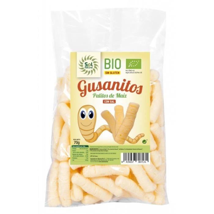 les vers de gluten de maïs SOL NATUREL BIO 70g