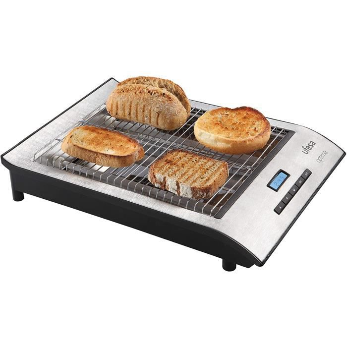 Machine à pain Ufesa TT7920 Grille-Pain Plat 700W, Ecran LCD, S&eacutelection de la Temp&eacuterature, Fonction D&eacutecong&26
