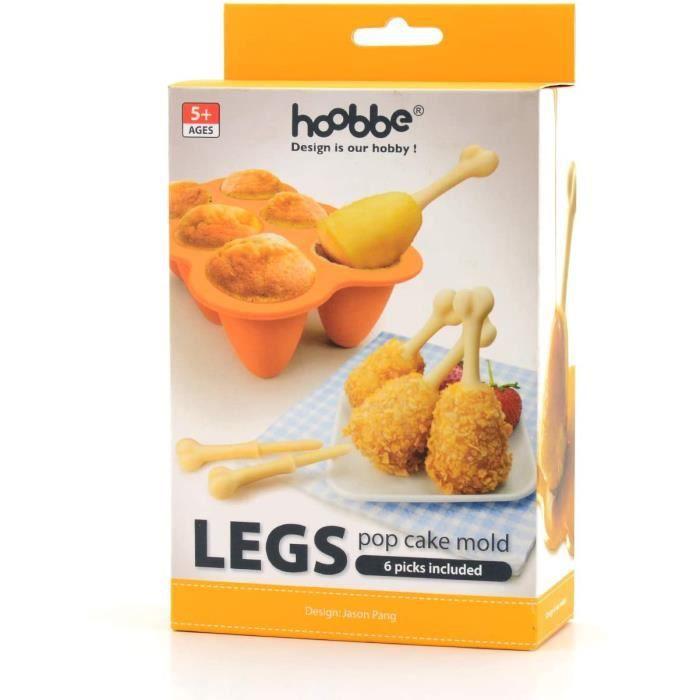 CAKE TDreg Fried Chicken Legs Cuisse de Poulet Silicone Baking Cake Pop Moule agrave sucettes Pop Cake en Silicone 6 bacircto230
