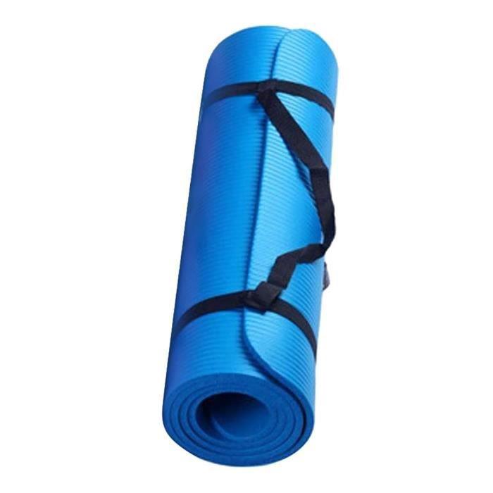 Tapis de sol,Petit tapis de Yoga antidérapant, 15 Mm d'épaisseur et Durable, tapis de sport, de Fitness, de gymnastique - Type Blue