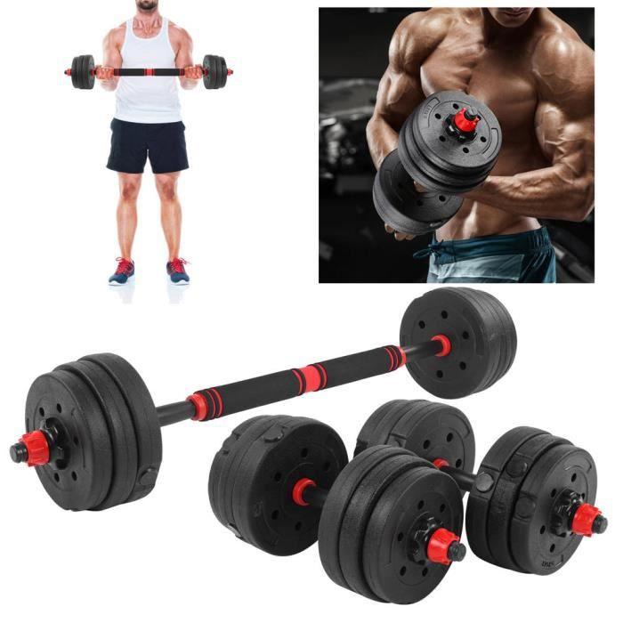Ensemble d'haltères Ensemble de combinaison d'haltères réglables d'exercice à domicile 10 kg x 2 équipement de fitness