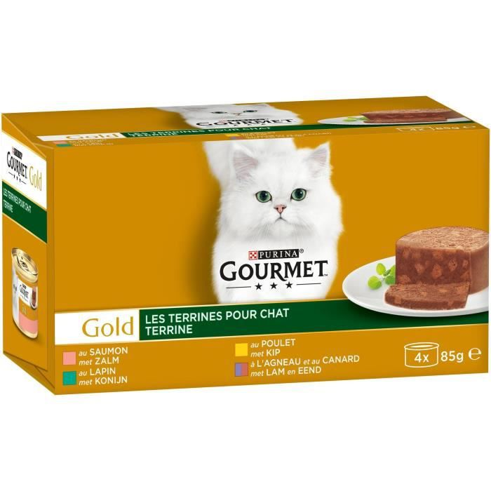 GOURMET Gold Les Terrines - Pour chat adulte - 4 x 85 g