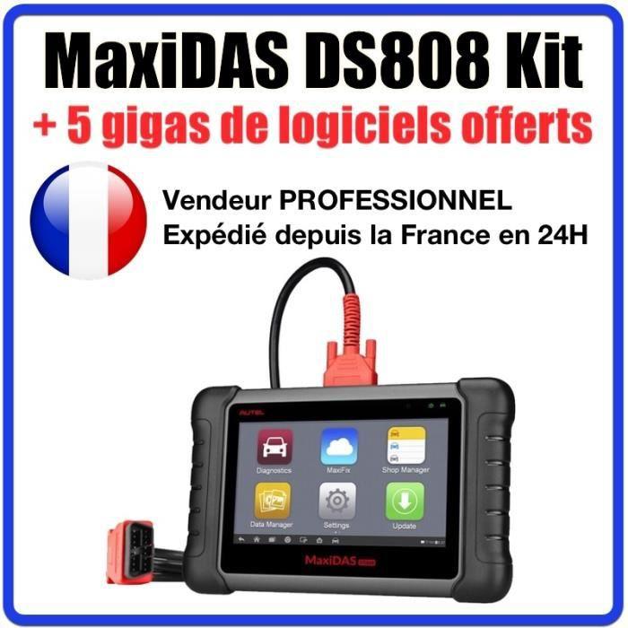 Autel DS808 Valise diagnostic OBD2 - Programmation clé TPMS codage injecteurs