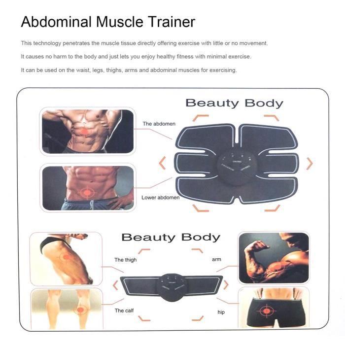 Electrostimulateur, Appareil de Musculation Abdominaux Bras Cuisses Ceinture abdo Appareil de Fitness