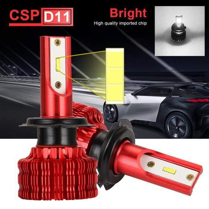 PRUMYA H7 LED Ampoule de phares CSP Puces Mini Design Kit de Conversion de Phare étanche 3000LM Super Brillant 20W 6500K Blanc -2PCS