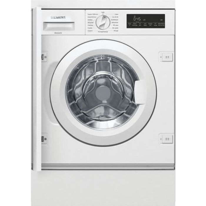 Siemens - lave-linge intégrable 60cm 8kg 1400t a+++ blanc - wi14w548ff