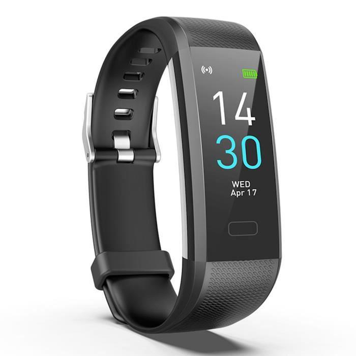 Sport Smart Bracelet Ecran couleur Smartband Surveillance de la fréquence cardiaque Suivi d'activité podomètre