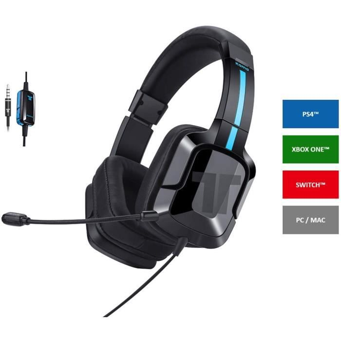 TRITTON KAMA+ - Casque gaming noir - PS4, Xbox One, Switch, PC et Mobile