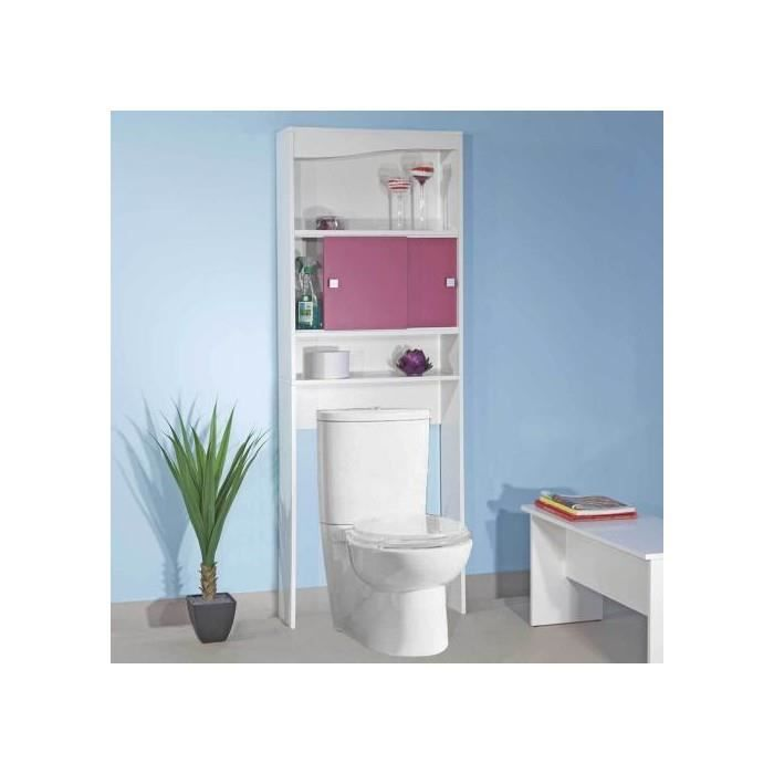 meuble de rangement buanderie toilette fuchsia achat. Black Bedroom Furniture Sets. Home Design Ideas