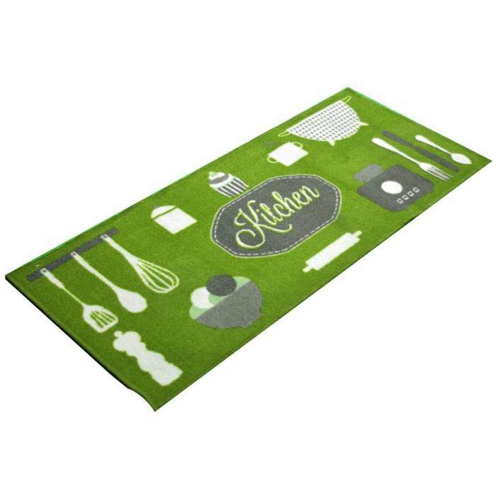 tapis de cuisine antid rapant kitchen vert achat vente tapis soldes d hiver d s le 6. Black Bedroom Furniture Sets. Home Design Ideas