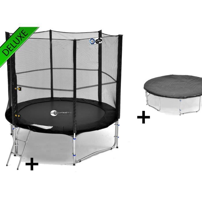 ls t245 pa8 sd deluxe trampoline de jardin 24 achat vente trampoline cdiscount. Black Bedroom Furniture Sets. Home Design Ideas