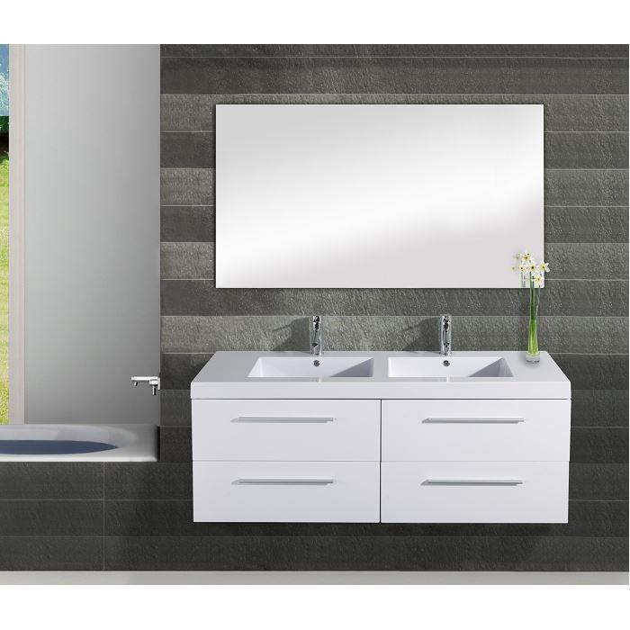 Meuble double vasque Saturn 140cm blanc - Achat / Vente ...