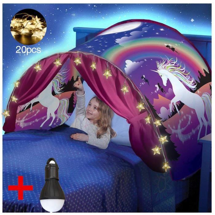 Tente Playhouse de Tente Apparaitre Int/érieure Enfant Jouer Tentes Cadeaux de No/ël pour Garcon Fille Tente de Lit Enfant Tente de R/êve Aventure Spatiale + USB-Light