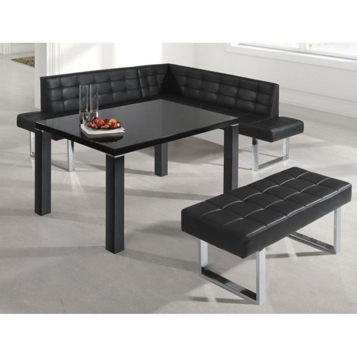 table de cuisine klark noir achat vente table de cuisine table de cuisine klark noir. Black Bedroom Furniture Sets. Home Design Ideas