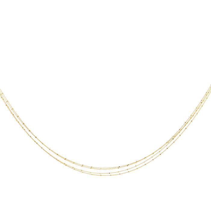DIAMANTLY Collier multi-rangs chaine cubes or 375-1000 - 45.0 cm