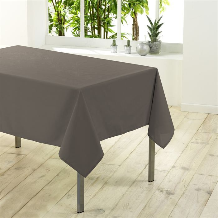 nappe rectangulaire unie 300 cm essentiel taupe achat vente nappe de table cdiscount. Black Bedroom Furniture Sets. Home Design Ideas
