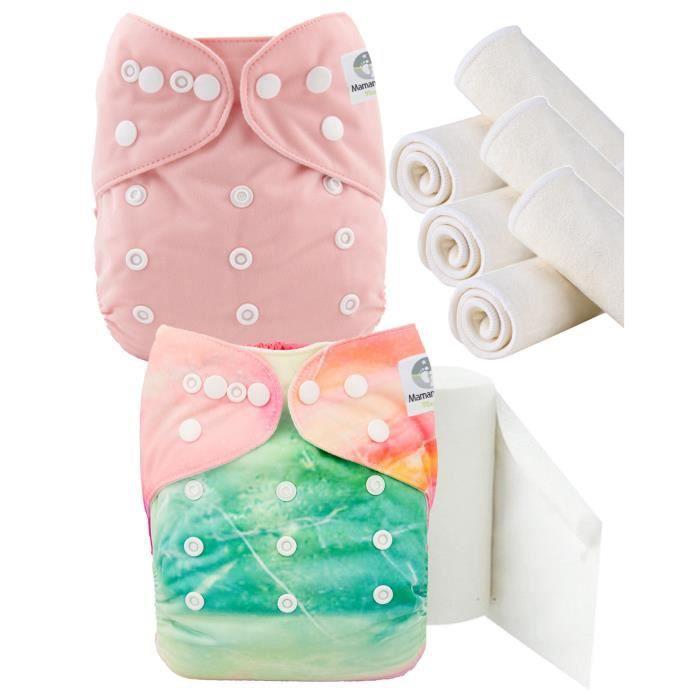 Mickey Minnie 6 inserts en microfibre Lot de 6 couches lavables /évolutives TE1 tout en Un Maman et bb Nature
