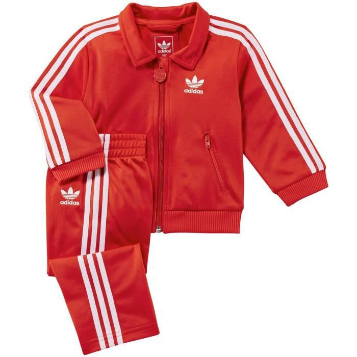 SURVÊTEMENT Adidas I FIREBIRD TS Survetement Bebe Rouge