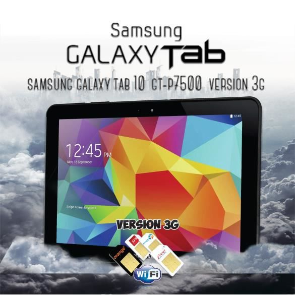 tablette samsung galaxy tab 3g 10 pouce gt p7500 prix pas cher cdiscount. Black Bedroom Furniture Sets. Home Design Ideas