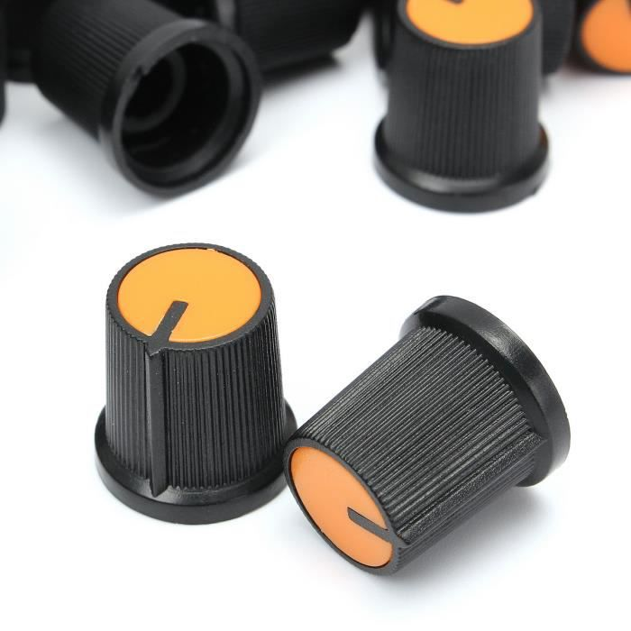"""0.24/"""" Dia Aluminium noir Rotatif De Contrôle Potentiomètre Knob 20 mm x 16 mm LW"""