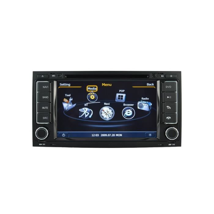 autoradio gps bluetooth pour volkswagen touareg et t5. Black Bedroom Furniture Sets. Home Design Ideas
