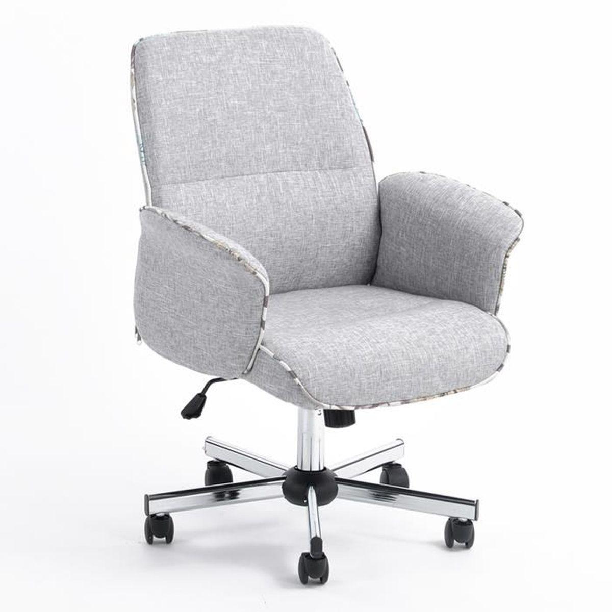 CHAISE Fauteuil de bureau 64x61.5x90-98cm Chaise Moderne