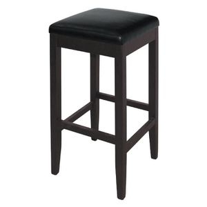 TABOURET DE BAR Boléro Faux cuir High Bar Tabourets noir (pack de