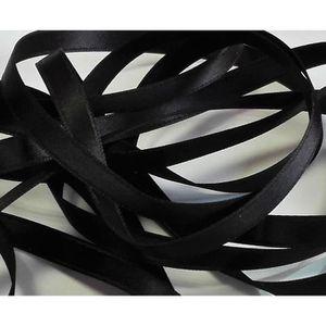 Ruban Satin Luxe Largeur 70 mm double face Coloris Noir longueur 3 mètres REF sa