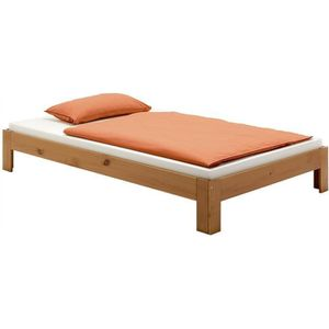 STRUCTURE DE LIT Lit futon THOMAS couchage simple 100 x 200 cm 1 pl